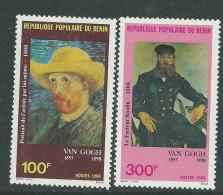 Bénin  N° 518 / 19 X Art : Oeuvres De Van Gogh Les 2 Valeurs  Trace De Charnière Sinon TB - Benin – Dahomey (1960-...)
