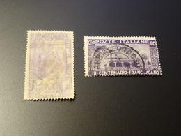 ITALIE  -ITALIA  Variété 1926 Impression Doubles 2 Timbres Sur Le Meme Papier-timbre De Gauche - Somalie
