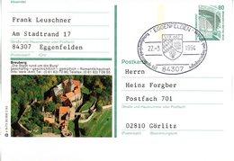 "BRD Bildpostkarte 80 Pf.WSt.Sehenswürdigkeiten Zeche Zollern P151 X 5/73 ""Breuberg"" SST 27.3.94 EGGENFELDEN - [7] République Fédérale"