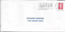 PUY DE DOME 63  -  PONT DU CHATEAU     -  FLAMME  AU COEUR DE L'AUVERGNE    -  1989  -  THEME SITES - Postmark Collection (Covers)
