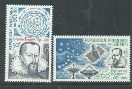 Bénin N° 520 / 21 X 350ème Anniversaire De La Mort De L'astronome J. Kepler, Les 2 Valeurs  Trace De Charnière Sinon TB - Bénin – Dahomey (1960-...)