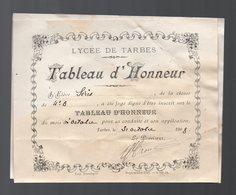 Tarbes  : Tableau D'honneur (PPP9985) - Diplomi E Pagelle