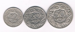 10,20 ,50 GROSZY 1923  POLEN /8711// - Pologne