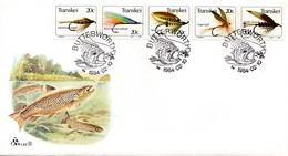 Transkei - 1984 Fishing Flies (5th Series) FDC # SG 133a , Mi 132-136 - Transkei