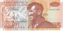 BILLETE DE NUEVA ZELANDA DE 5 DOLLARS DEL AÑO 1992-97 (BANKNOTE) (pinguino-penguin) - Nieuw-Zeeland