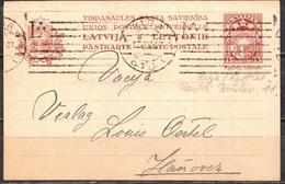 Postal History: Latvia Postal Stationery Card From 1927 - Lettonie