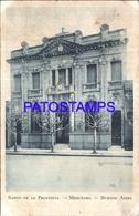 105153 ARGENTINA MERCEDES BUENOS AIRES BANK BANCO DE LA PROVINCIA SPOTTED POSTAL POSTCARD - Argentina
