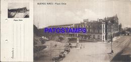 105155 ARGENTINA BUENOS AIRES STATION TRAIN ESTACION DE TREN ONCE TRANVIA TRAMWAY SEPARADO POSTAL POSTCARD - Argentina