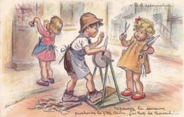 Bouret Germaine  Enfants  Taille-crayon Old  Cpa  MD Paris 725 - Bouret, Germaine