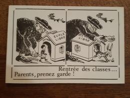 Illustrateur à Identifié - Rentrée Des Classes, Parents, Pub Journal La Calotte, Satyre, Congrès National De Fontaine - Illustratoren & Fotografen