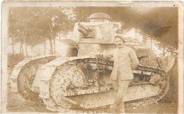 - Carte Photo - Militaire + Tank - - Militaria