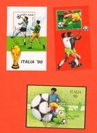 Calcio 1990 Football  Soccer World Cup Coupe Du Monde De Football Fußball-weltmeisterschaft Viet Nam Guine Bissau Laos - Coppa Del Mondo