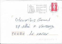 SEINE ET MARNE 77  -  NANGIS     -  FLAMME  VOIR DESCRIPTION      -  1998  -  THEME SITES - Postmark Collection (Covers)