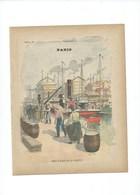 PARIS Port Et Docks De La Villette Texte Complet à L'intérieur RARE Couverture Protège-cahier De 1900 220x175 TB 3 Scans - Protège-cahiers