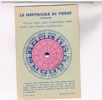 CARTE  A SYSTEME    LA MARTINGALE  DU  TIERCE    TBE  AL43 - A Systèmes