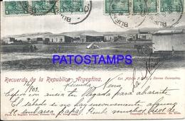105162 ARGENTINA BUENOS AIRES STATION TRAIN ESTACION DE TREN ALFALFA Y SIERRAS CURUMALAN CIRCULATED TO URUGUAY POSTCARD - Argentina