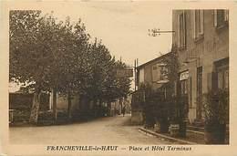 -depts Div.-ref-AE619- Rhône - Francheville Le Haut - Place Et Hotel Terminus - Hotels  - Carte Bon Etat - - Frankreich