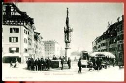 BASEL - Fischmarktbrunnen - (Beau Plan Animé Avec Marché En Plein Air) - CP Précurseur, Vers 1900. - BS Basle-Town