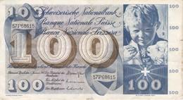 BILLETE DE SUIZA DE 100 FRANCOS DEL AÑO 1967   (BANKNOTE) - Suisse