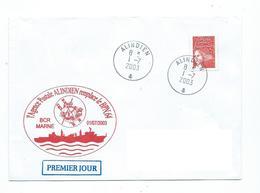 16784 -  ALINDIEN - JUILLET 2003 -L'AP ALINDIEN REMPLACE LE BN 64 A BORD DU  BCR MARNE - Posta Marittima