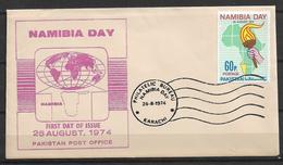 PAKISTAN FDC NAMIBIA DAY 1974 - Pakistan