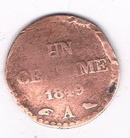 1 CENTIME 1849 A FRANKRIJK /8725/ - France