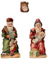 CHROMO Découpis 19ème Chocolat Besnier Père Noël Père Fouettard Bébé Enfant Fillette Chat Jouets Cadeaux Fouet Verge (3 - Enfants