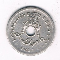 5 CENTIMES 1903 VL BELGIE /8726/ - 1865-1909: Leopold II