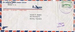 30810. Carta Aerea BALBOA (Canal Zone) Panama. 1955. Fechador TOCUMEN - Panamá