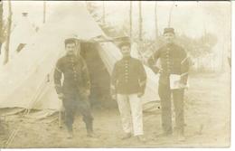 Carte Photo , Ww1 , 3 Soldats En Uniforme 33° Rgt Infanterie , Voyagée - Guerre 1914-18