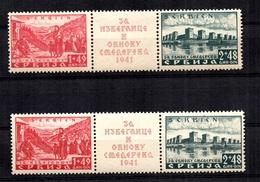 Serbie/Occupation Allemande Michel N° 50/51 Neufs ** MNH (2). TB. A Saisir! - Occupation 1938-45