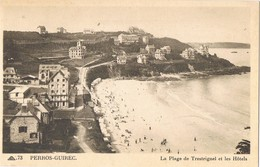 30811. Postal PERROS GUIREC (Cotes D'armor). Plage De Trestrignel Et Les Hotels - Perros-Guirec