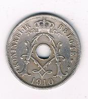 25 CENTIMES 1910 VL  FR BELGIE /8730/ - 1909-1934: Albert I