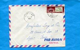 MARCOPHILIE-TOGO-lettre >Françe-cad -Dapango 1964-stamp N°377 Sce Postaux Togolais- Auto Et Timbre Chasseur - Togo (1960-...)