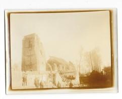 FONCQUEVILLERS (62) Guerre 1914-18 Ancienne Photographie église Bombardée 1915 - Sonstige Gemeinden