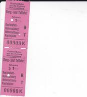 PIE-VPT-18-023 :   2 TICKETS. BERG UND TALFAHRT. FUNICULAIRE DE SALZBOURG. 23 SEPTEMBRE 1950. - Chemins De Fer
