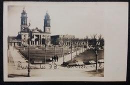 HC - Post 1906 - URUGUAY SAN JOSE - PLAZA E IGLESIA - CHURCH - Edit. CHABALGOITY - RARE REAL PHOTO POSTCARD  UNUSED RPPC - Uruguay
