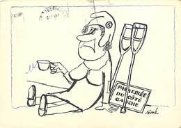 Gd Format :environ15cms X10cms -ref Y175-humour - Illustrateurs -illustrateur Siné - Politique - - Sine