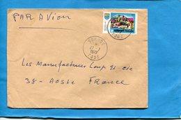 MARCOPHILIE-TOGO-lettre >Françe-cad -sokode 1977-stamp N°639 Maquette D'un Village - Togo (1960-...)