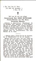 DOODSPRENTJE JULES HOVELAQUE ° MOESKROEN 1897 + UKKEL 1958 UCCLE PRIESTER  HECHTEL DON BOSCO PROVINCIAAL SEKRETARIS - Images Religieuses