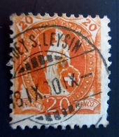 1882 Suisse Yt 71 Standing Helvetia Oblitéré LEYSIN - 1882-1906 Armoiries, Helvetia Debout & UPU
