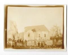 FONCQUEVILLERS (62) Guerre 1914-18 Ancienne Photographie église De Coté Bombardée 1915 - Sonstige Gemeinden
