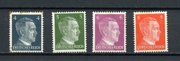 Allemagne III Reich - Germany - Deutschland 1941-43 Y&T N°707 à 710 - Michel N°783 à 786 *** - Série Hitler - Allemagne