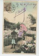 FEMMES - FRAU - LADY - ASIE - JAPON - JAPAN - Femmes Japonaises GEISHA (Japanese Women ) Dans Pousse Pousse - Femmes