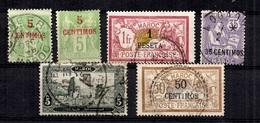 Maroc Six Bonnes Valeurs Oblitérés 1899/1917. B/TB. A Saisir! - Oblitérés
