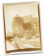 HEBUTERNE (62) Guerre 1914-18 Ancienne Photographie église  Bombardée 1915 - Sonstige Gemeinden