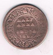 HALF ANNA 1862 INDIA /8735/ - Inde