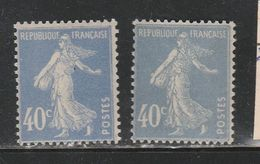 FRANCE N° 237 237a TYPE SEMEUSE CAMEE NEUF SANS CHARNIERE - Plaatfouten En Curiosa