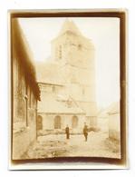 BIENVILLERS AU BOIS (62) Guerre 1914-18 Ancienne Photographie église  Bombardée 1915 - Sonstige Gemeinden