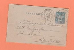 CACHET CANNES ALPES MARITIMES SUR CARTE LETTRE - Marcophilie (Lettres)